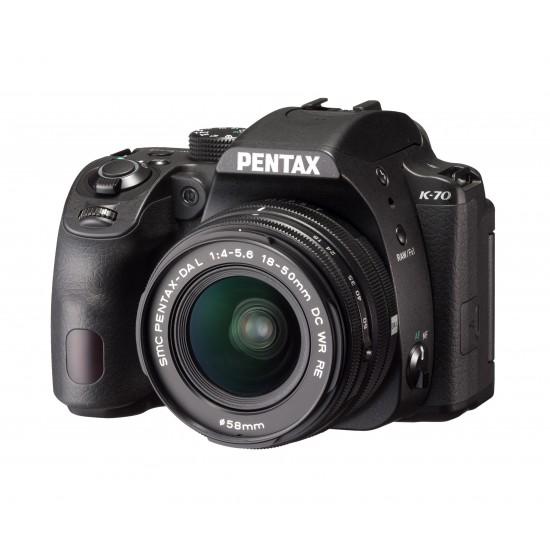 Фотоапарат PENTAX K-70 Black + 18-50 mm WR